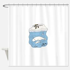 Whales Beluga Shower Curtain