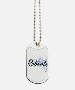 Roberts surname artistic design with Flow Dog Tags