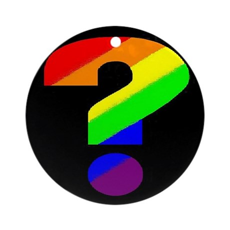 """DISCOUNTED - Rainbow """"Questio Ornament (Round)"""