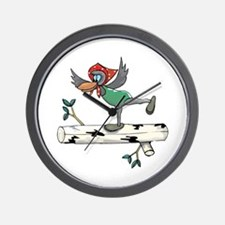 Magpie Balancing Wall Clock