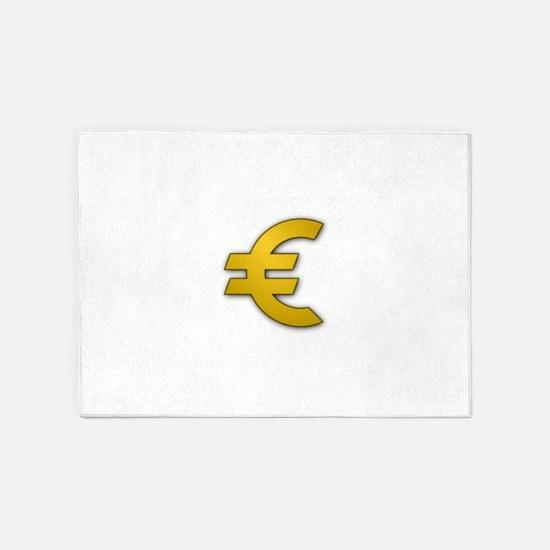 Euro Sign 5'x7'Area Rug