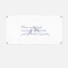 Ohana means family Banner