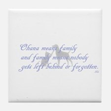 Ohana means family Tile Coaster