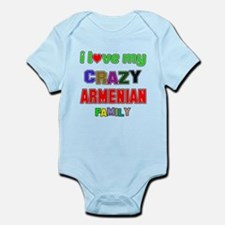I love my crazy Armenian family Infant Bodysuit