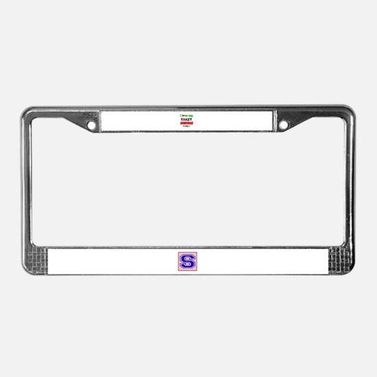 I love my crazy Armenian famil License Plate Frame