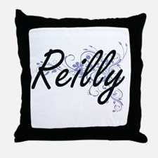 Reilly surname artistic design with F Throw Pillow