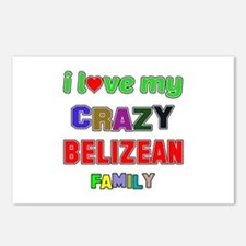 I love my crazy Belizean Postcards (Package of 8)