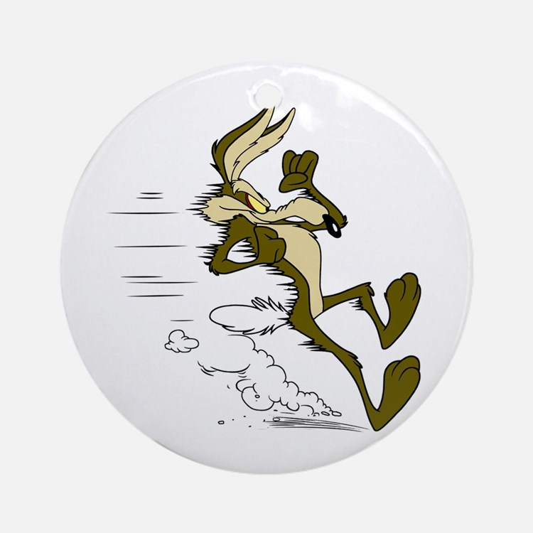 Fast Road Runner fox Round Ornament