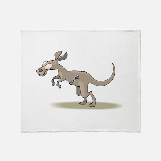 Kangaroo Zipper Pouch Throw Blanket