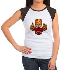 African Mask Women's Cap Sleeve T-Shirt
