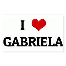 I Love GABRIELA Rectangle Decal