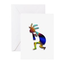 One Kokopelli #7 Greeting Cards (Pk of 10)