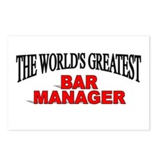 """The World's Greatest Bar Manager"" Postcards (Pack"