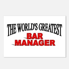 """""""The World's Greatest Bar Manager"""" Postcards (Pack"""