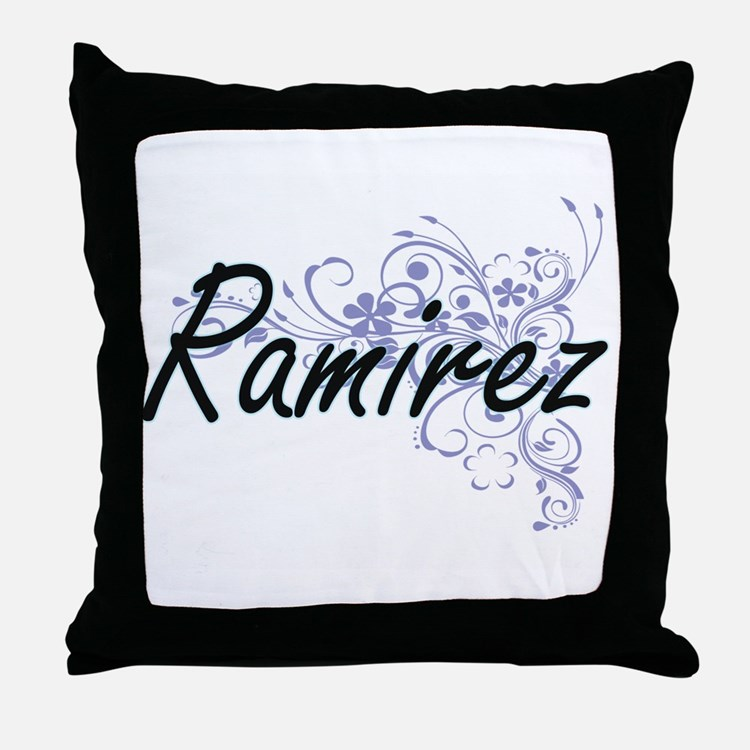 Ramirez surname artistic design with Throw Pillow
