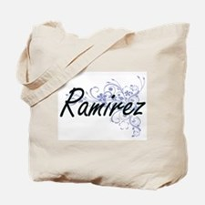 Ramirez surname artistic design with Flow Tote Bag