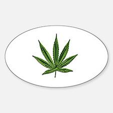Unique Marijuana leaf Sticker (Oval)
