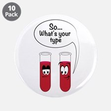 "Blood Sample Jokes 3.5"" Button (10 pack)"