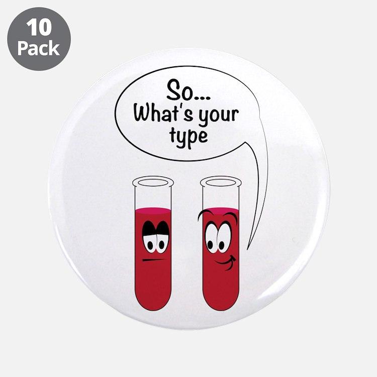 "Blood Sample Jokes 3.5"" Button (10 pack)"