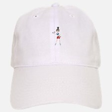 Ponytail girl exercise cartoon Baseball Baseball Cap