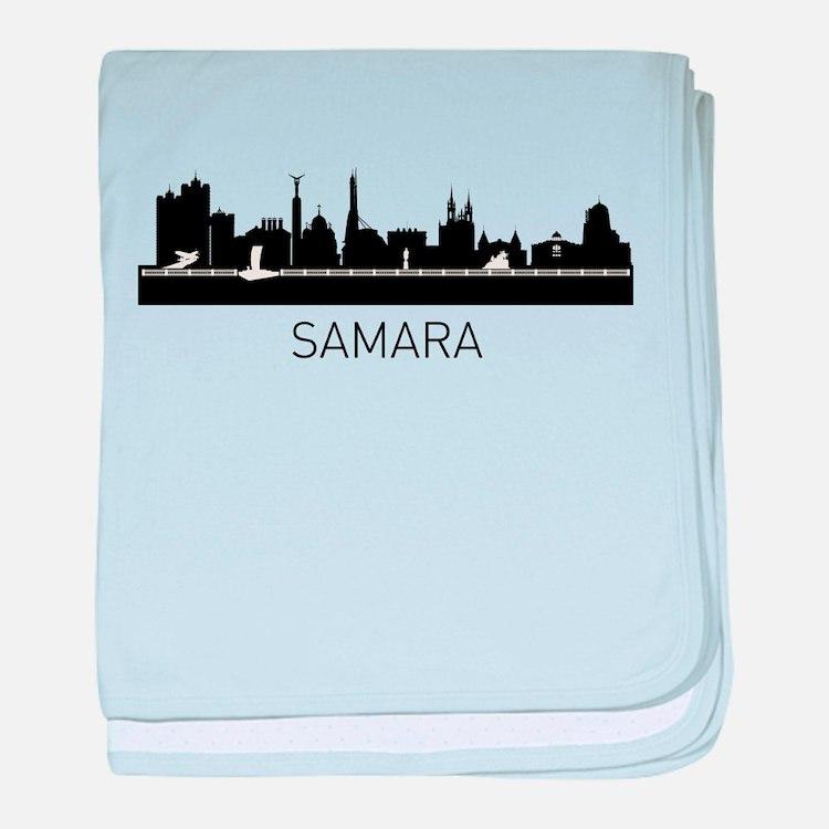 Samara Russia Cityscape baby blanket
