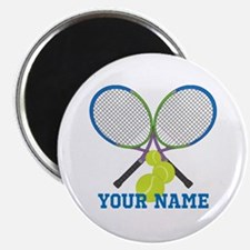Personalized Tennis Player Magnets