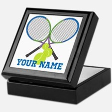 Personalized Tennis Player Keepsake Box