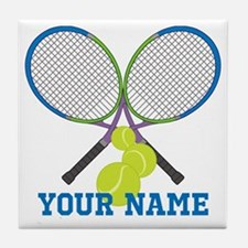 Personalized Tennis Player Tile Coaster