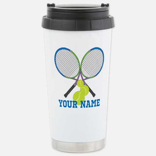Personalized Tennis Player Travel Mug
