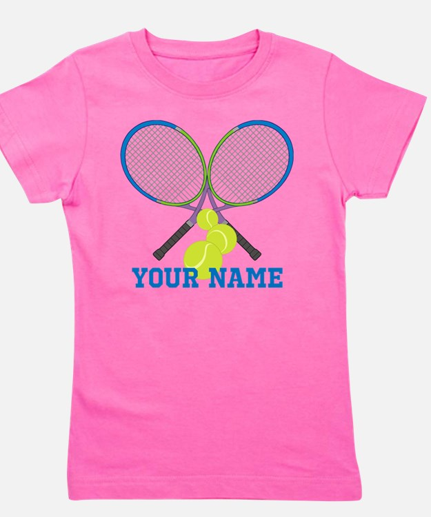 Personalized Tennis Player Girl's Tee