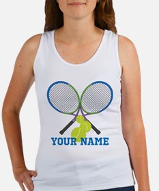 Personalized Tennis Player Tank Top