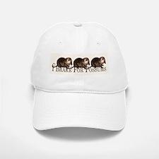 I Brake For Possums Baseball Baseball Cap