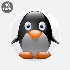 """Little penguin 3.5"""" Button (10 pack)"""