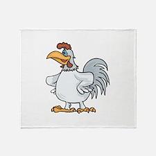 Rooster leader Throw Blanket