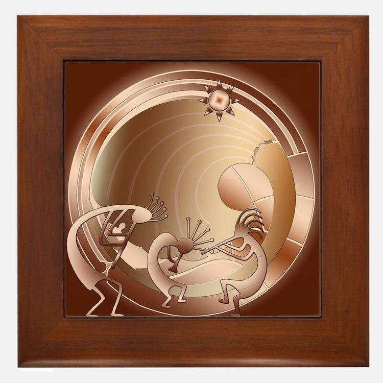 Kokopelli Universe Abstract Framed Tile