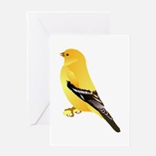 Gold finch Greeting Cards