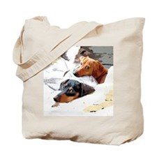 Naptime Dachshund Dogs Tote Bag