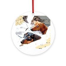 Naptime Dachshund Dogs Ornament (Round)