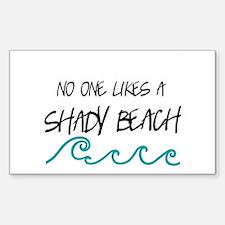 Shady Beach Decal