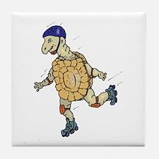 Tortoise Skating Tile Coaster