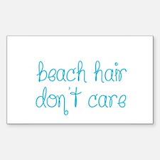 Beach Hair Don't Care Decal