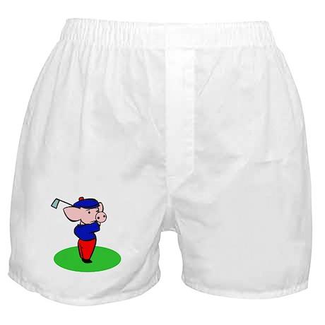 Golfing Pig Boxer Shorts