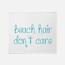 Beach Hair Don't Care Throw Blanket