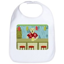 Yellow Labrador Retriever Tiki Bar Baby Bib