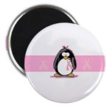 Pink Ribbon Penguin Magnet