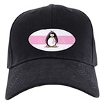 Pink Ribbon Penguin Black Cap