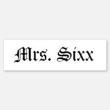 Mrs. Sixx Bumper Car Car Sticker