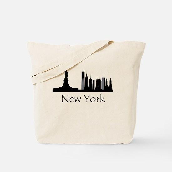New York City Cityscape Tote Bag
