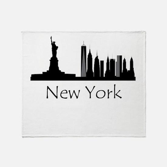 New York City Cityscape Throw Blanket
