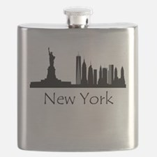 New York City Cityscape Flask